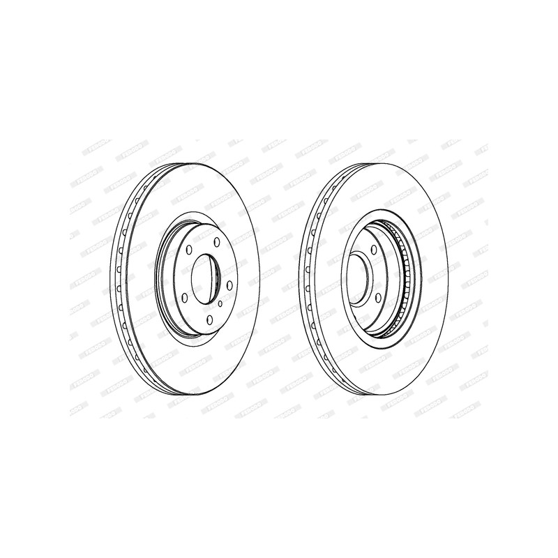 Jeu de 2 disques de frein avant FERODO [DDF1505C-1]