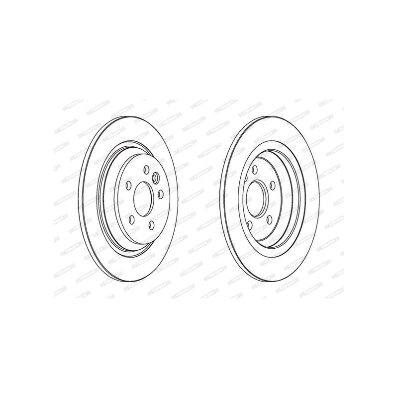 Jeu de 2 disques de frein arrière FERODO [DDF1720C]