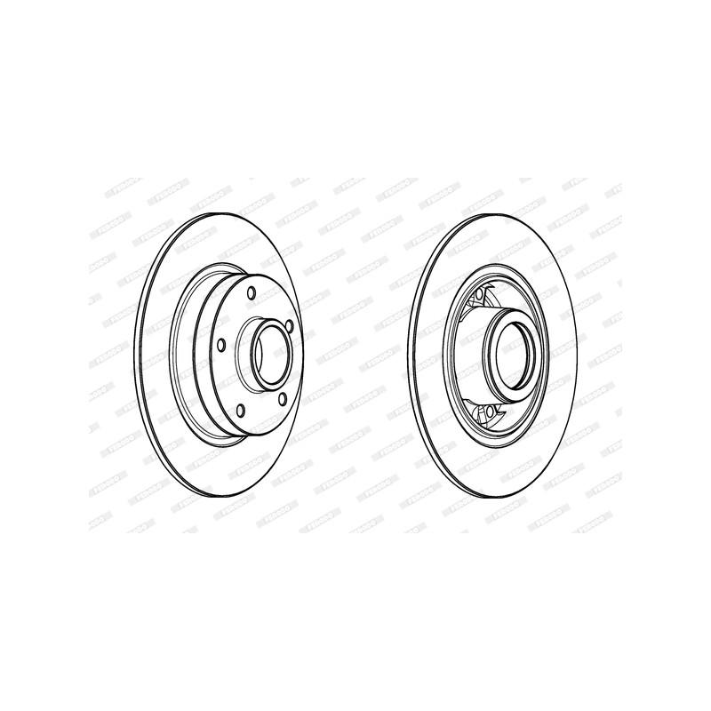 Jeu de 2 disques de frein arrière FERODO [DDF1732-1]