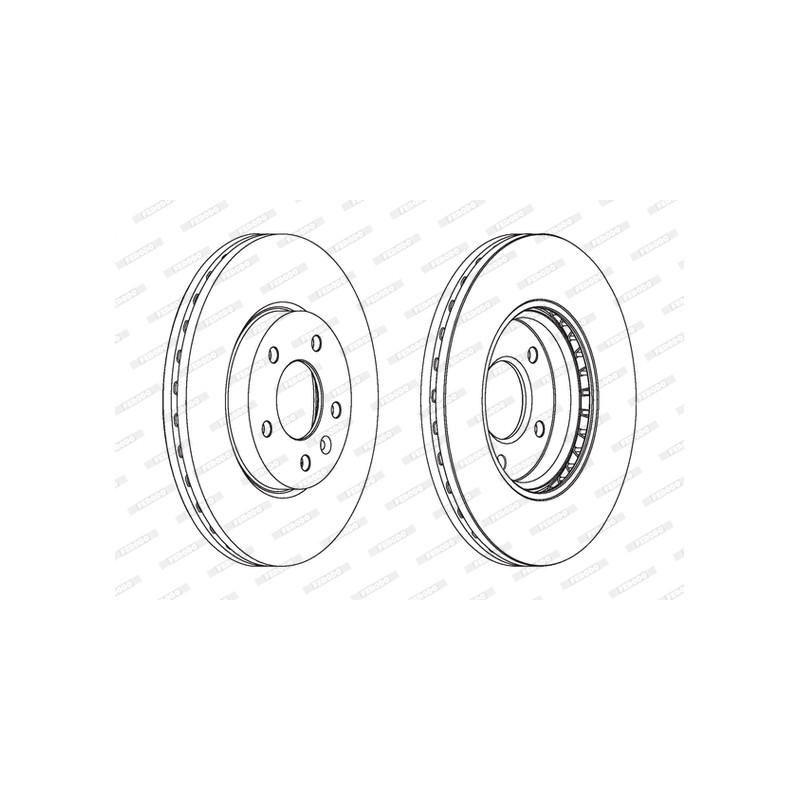 Jeu de 2 disques de frein avant FERODO [DDF1870]
