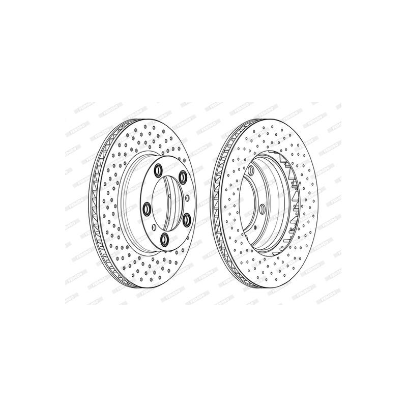 Jeu de 2 disques de frein avant FERODO [DDF2027LC-1]