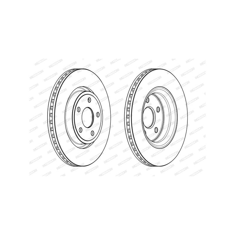 Jeu de 2 disques de frein avant FERODO [DDF2097C-1]