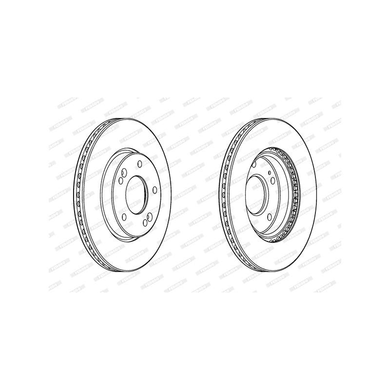 Jeu de 2 disques de frein avant FERODO [DDF2187C]