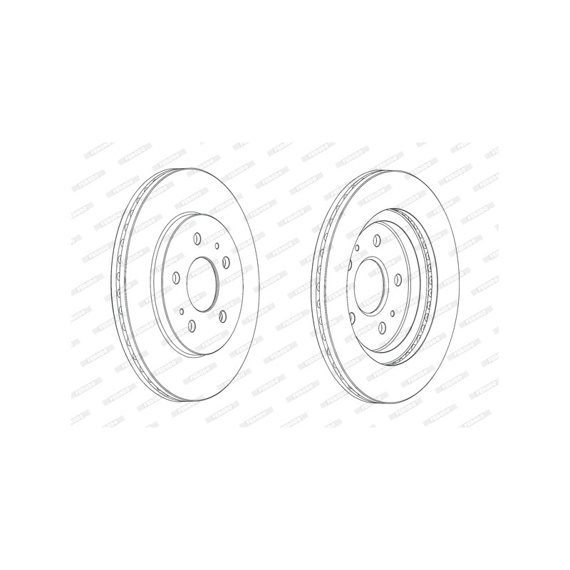 Jeu de 2 disques de frein avant FERODO [DDF2247C]