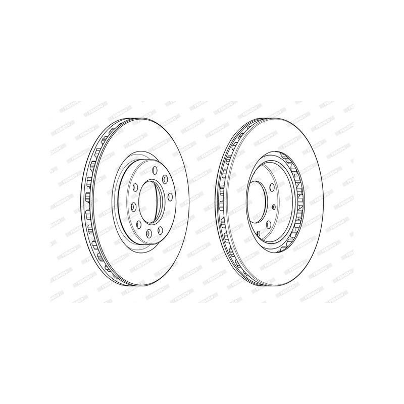Jeu de 2 disques de frein avant FERODO [DDF2401C-1]