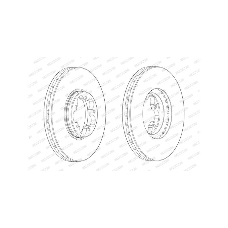 Jeu de 2 disques de frein avant FERODO [DDF2470-1]