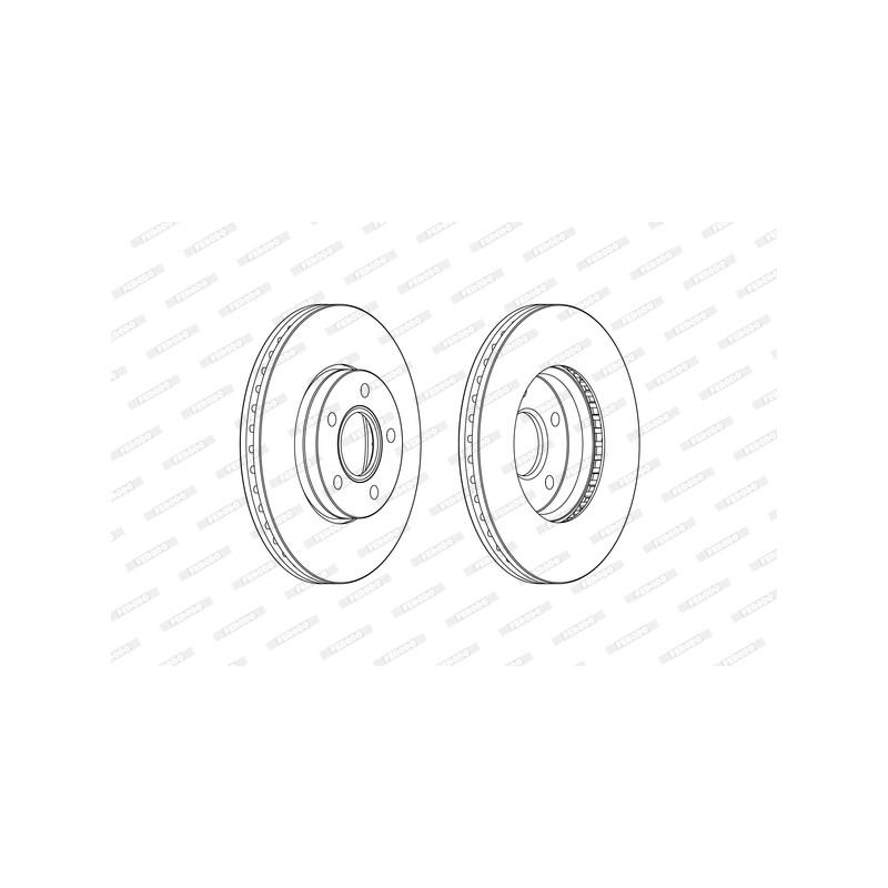 Jeu de 2 disques de frein avant FERODO [DDF2509C]
