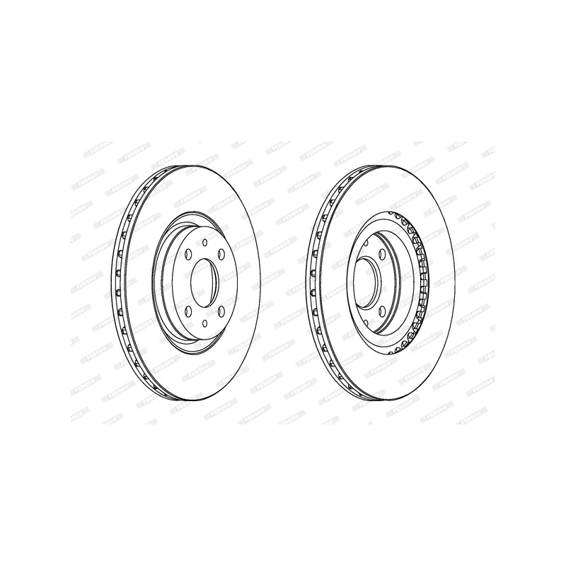 Jeu de 2 disques de frein avant FERODO [DDF252C]