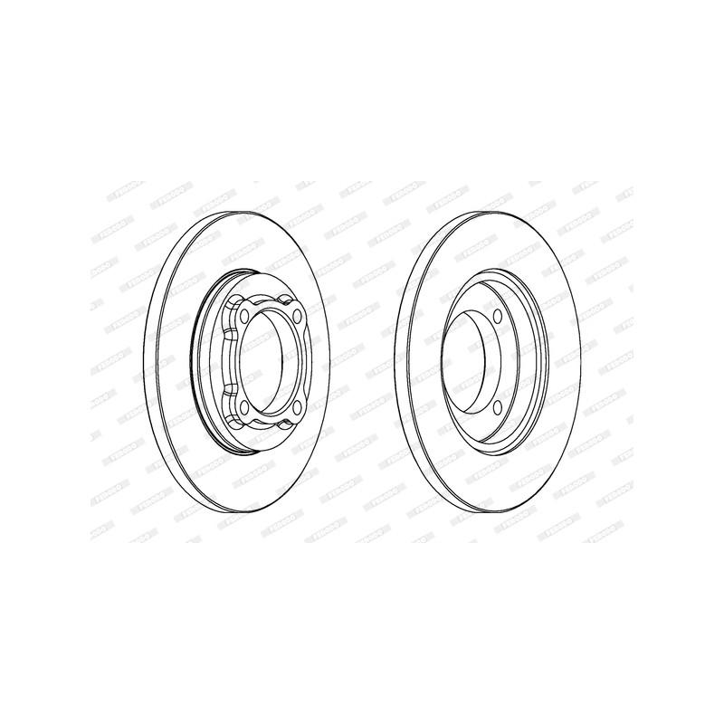 Jeu de 2 disques de frein avant FERODO DDF429 pour KIA PRIDE 1,3 16V - 72cv