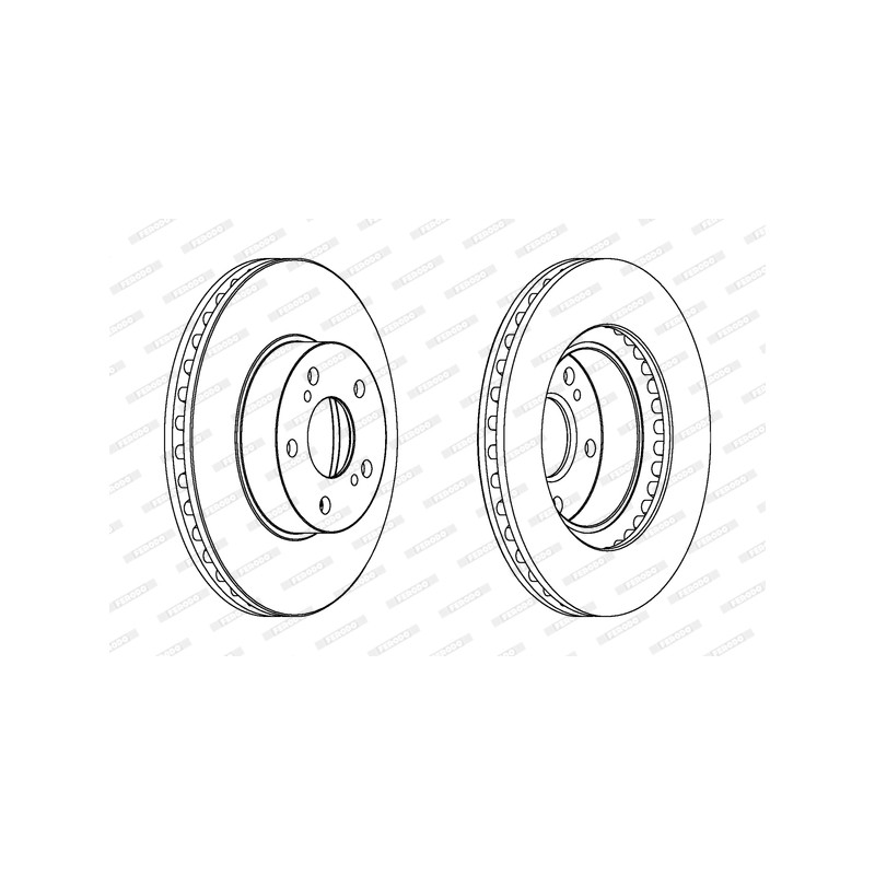 Jeu de 2 disques de frein avant FERODO [DDF485C]