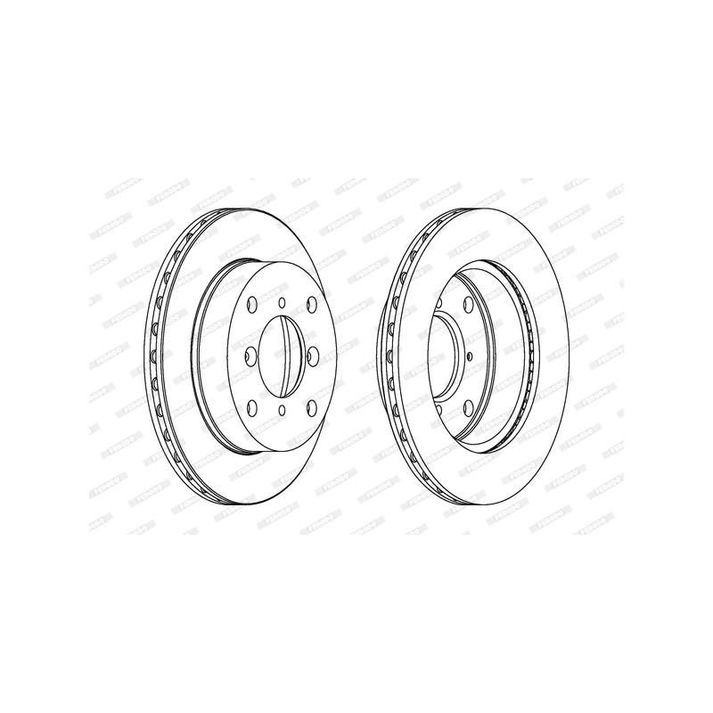 Jeu de 2 disques de frein avant FERODO [DDF623C]