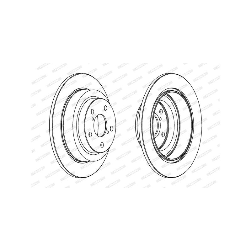 Jeu de 2 disques de frein arrière FERODO [DDF678C]
