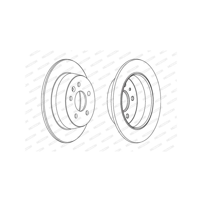 Jeu de 2 disques de frein arrière FERODO [DDF861C]