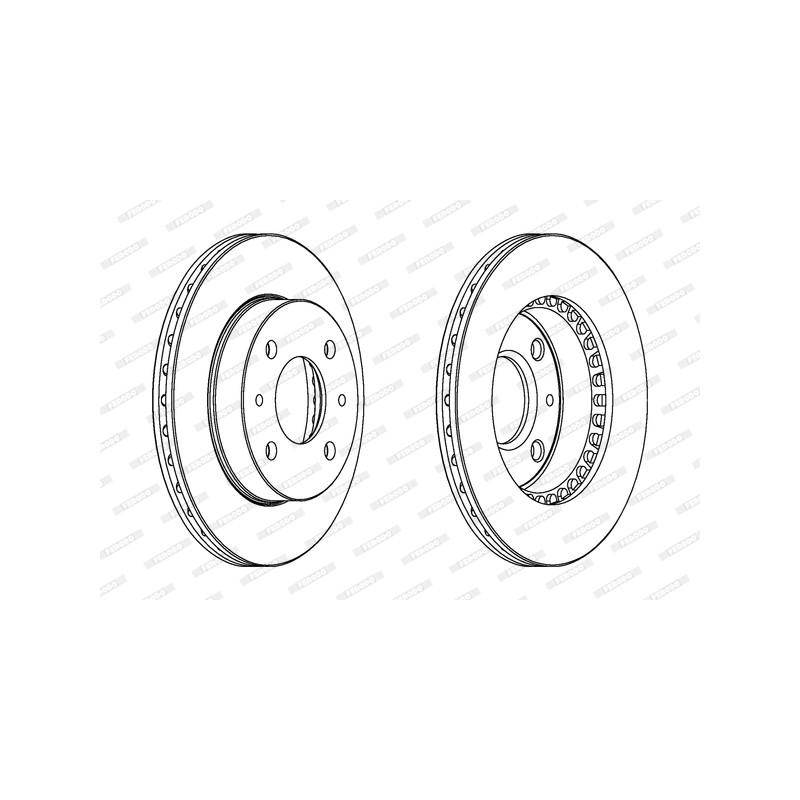 Jeu de 2 disques de frein avant FERODO [DDF866]