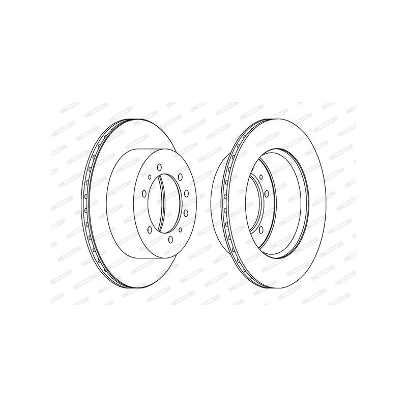 Jeu de 2 disques de frein arrière FERODO [DDF976-1]