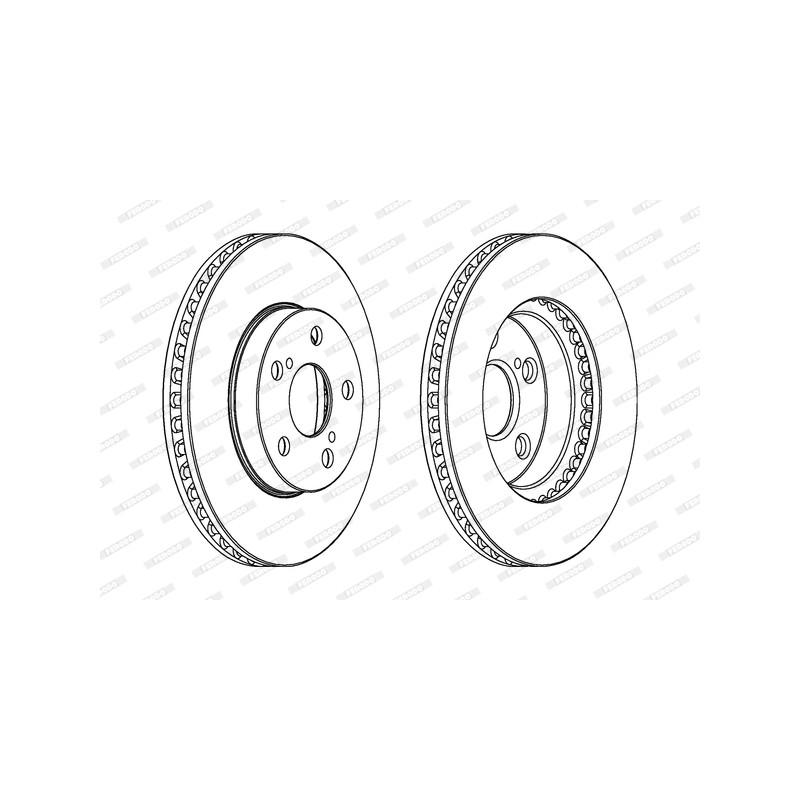 Jeu de 2 disques de frein avant FERODO [DDF992]