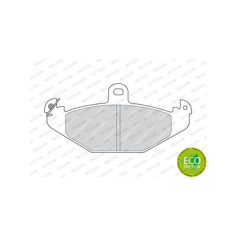 Jeu de 4 plaquettes de frein arrière FERODO [FDB878]