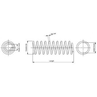 Ressort de suspension MONROE SE3544 pour RENAULT THALIA 1,5 DCI - 82cv