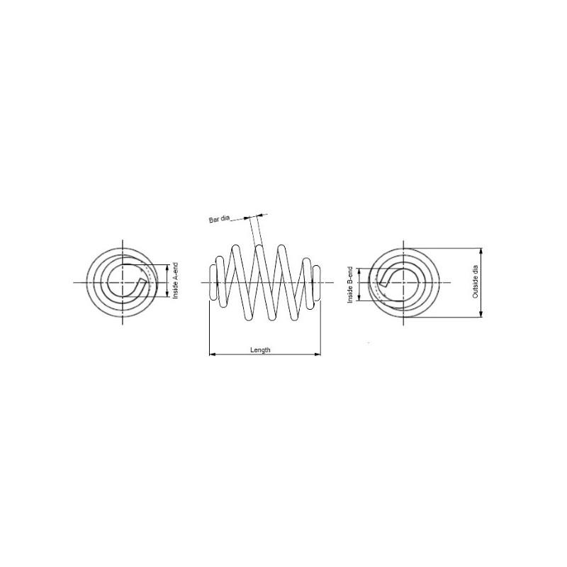 Ressort de suspension MONROE SN0430 pour RENAULT THALIA 1,5 DCI - 82cv