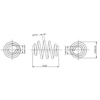 Ressort de suspension MONROE SN2783 pour RENAULT TRAFIC 1,9 DCI 80 - 82cv