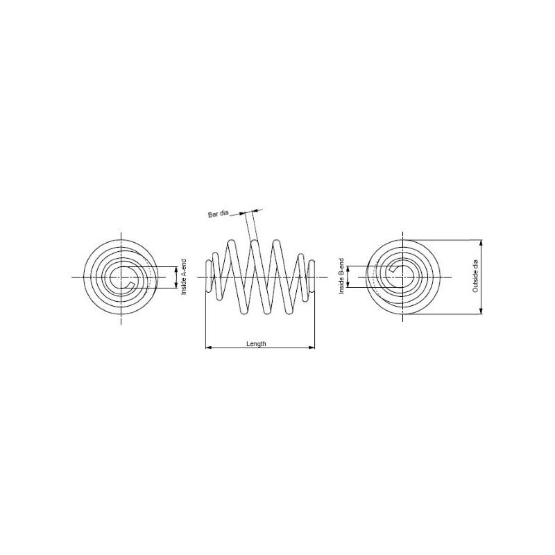 Ressort de suspension MONROE SP2783 pour RENAULT TRAFIC 1,9 DCI 80 - 82cv