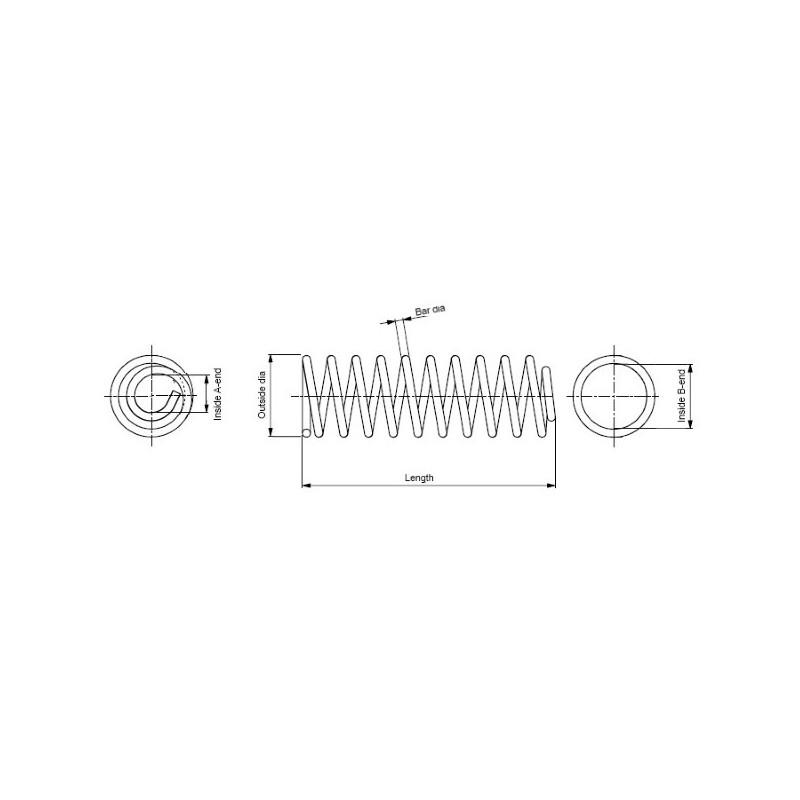 Ressort de suspension MONROE SP3544 pour RENAULT THALIA 1,5 DCI - 82cv
