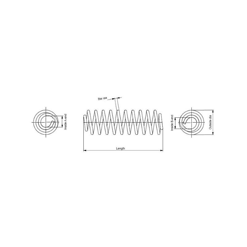 Ressort de suspension MONROE SP3574 pour FIAT GRANDE PUNTO 1,3 D Multijet - 69cv