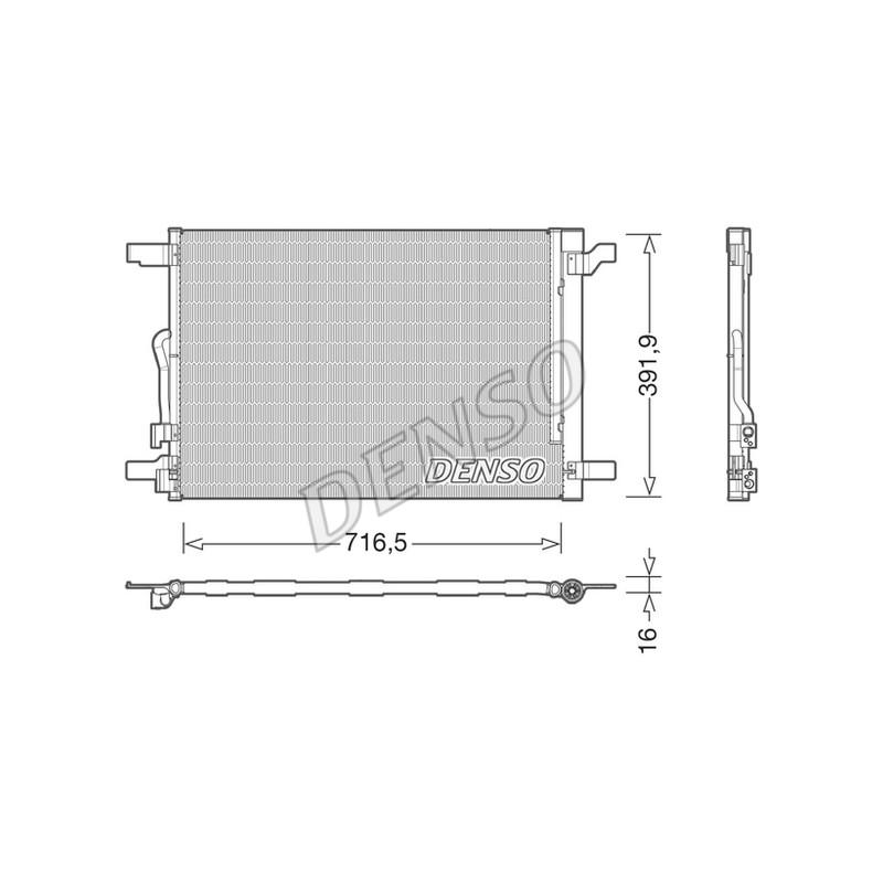 Condenseur, climatisation DENSO [DCN32024]