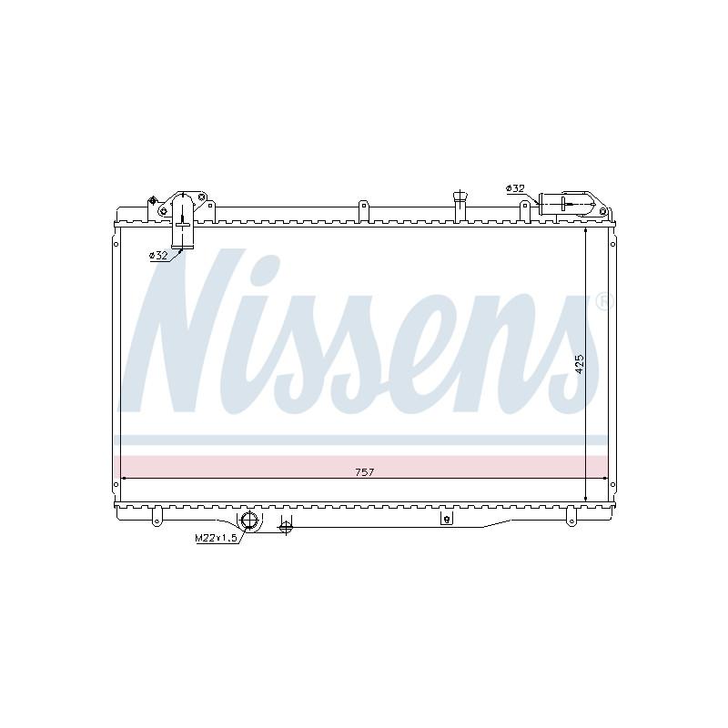 Radiateur, refroidissement du moteur NISSENS [63791]