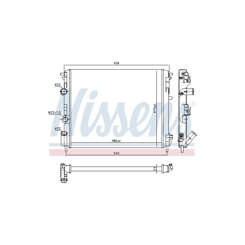 Radiateur, refroidissement du moteur NISSENS [637931]