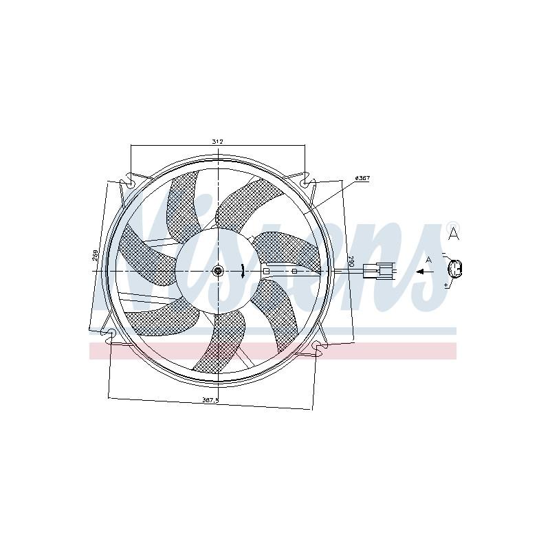 Ventilateur, refroidissement du moteur NISSENS [85886]