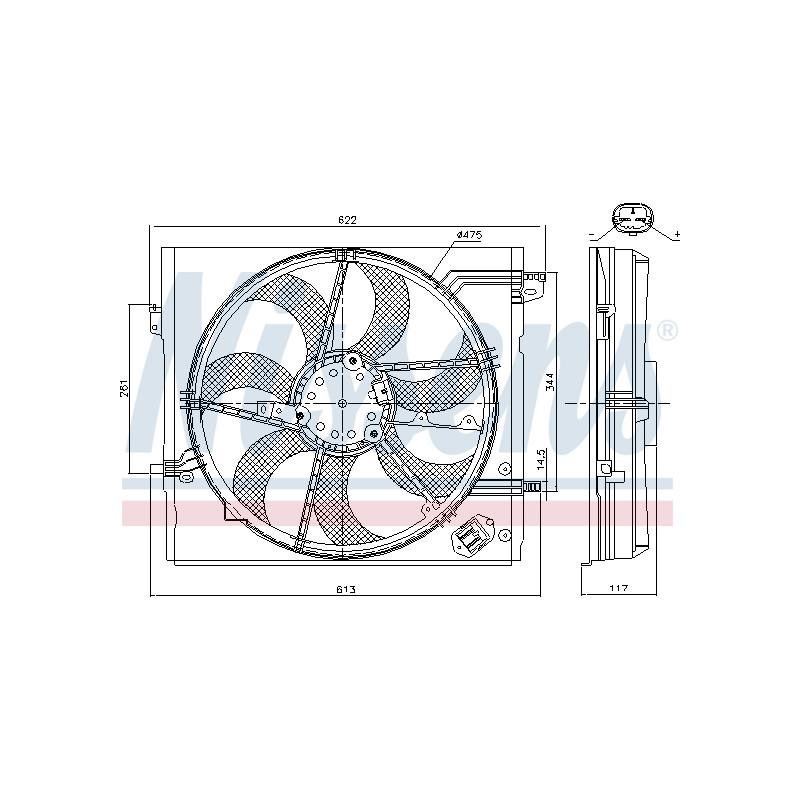 Ventilateur, refroidissement du moteur NISSENS [85935]