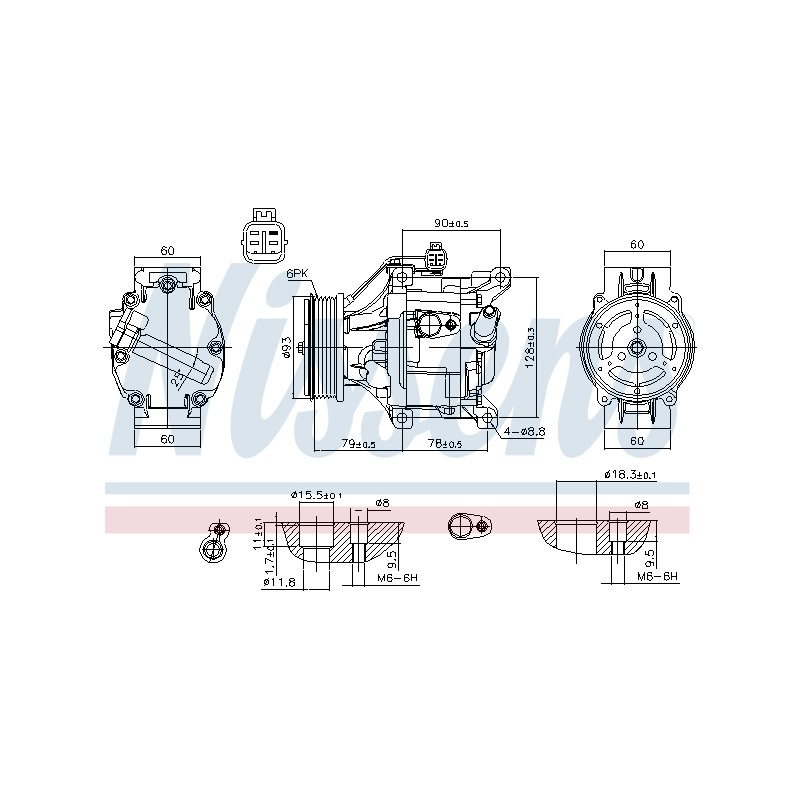 Compresseur, climatisation NISSENS [890036]