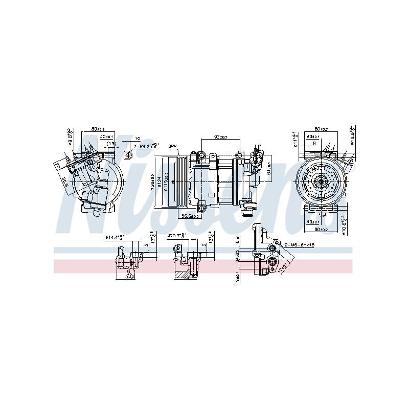 Compresseur, climatisation NISSENS [890051]