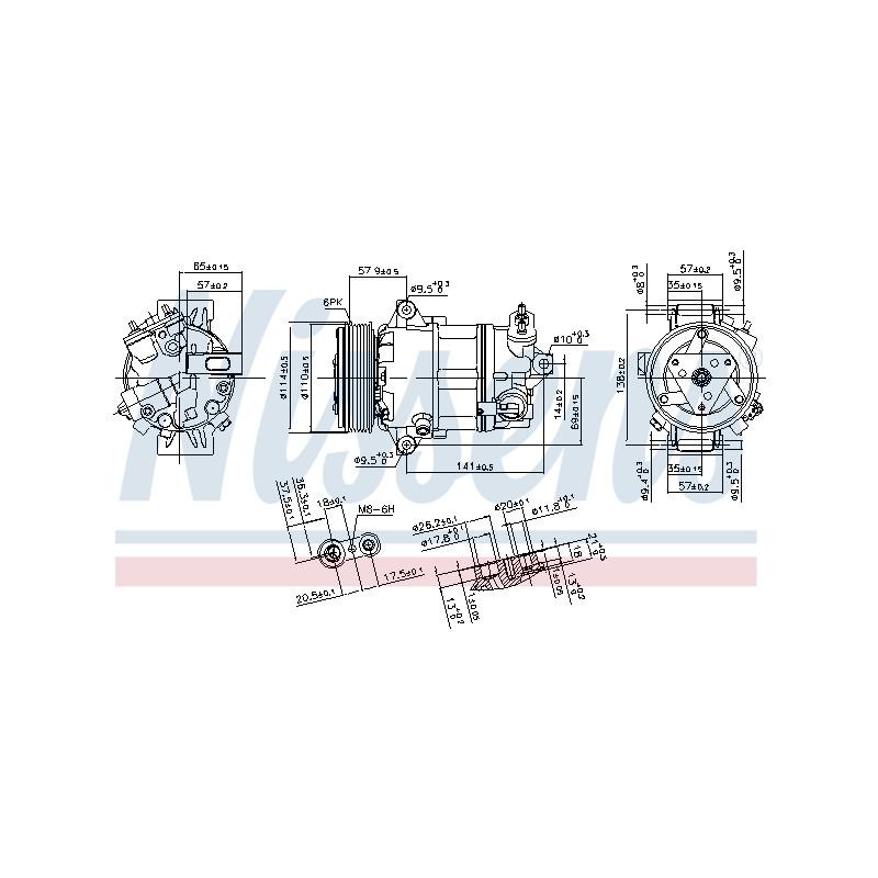 Compresseur, climatisation NISSENS [890056]