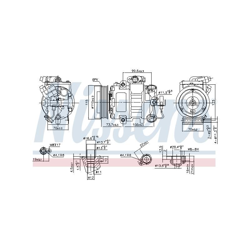 Compresseur, climatisation NISSENS [89026]