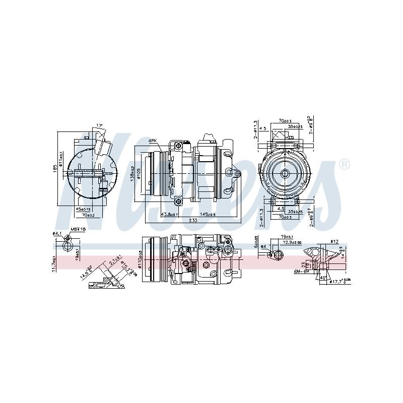 Compresseur, climatisation NISSENS [890292]