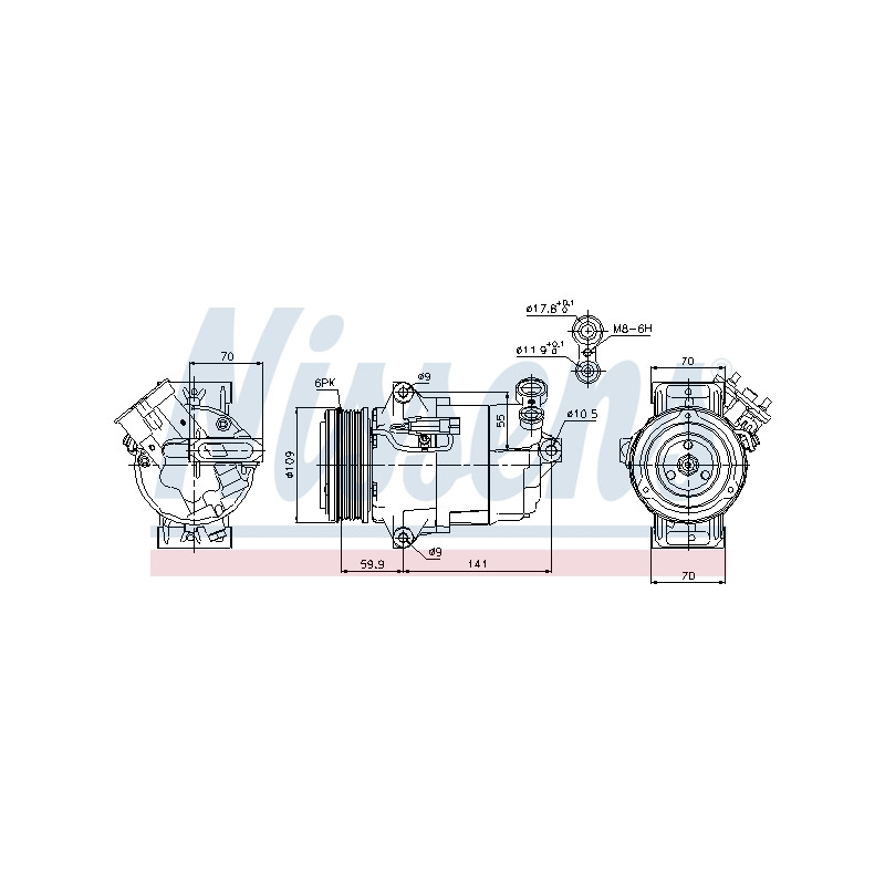 Compresseur, climatisation NISSENS [89041]