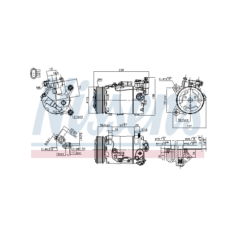 Compresseur, climatisation NISSENS [890601]