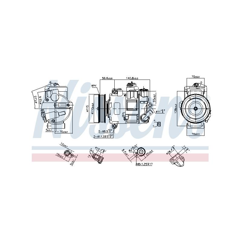 Compresseur, climatisation NISSENS [890633]