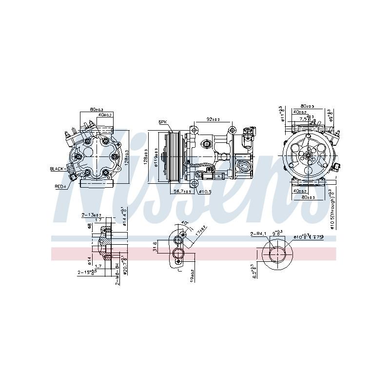 Compresseur, climatisation NISSENS [89067]
