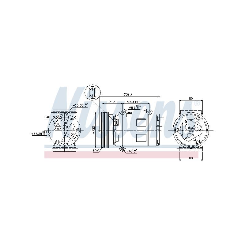 Compresseur, climatisation NISSENS [89072]