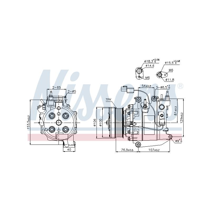 Compresseur, climatisation NISSENS [89246]