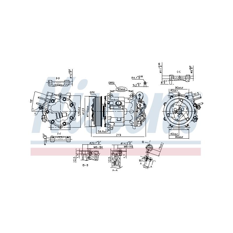 Compresseur, climatisation NISSENS [89404]