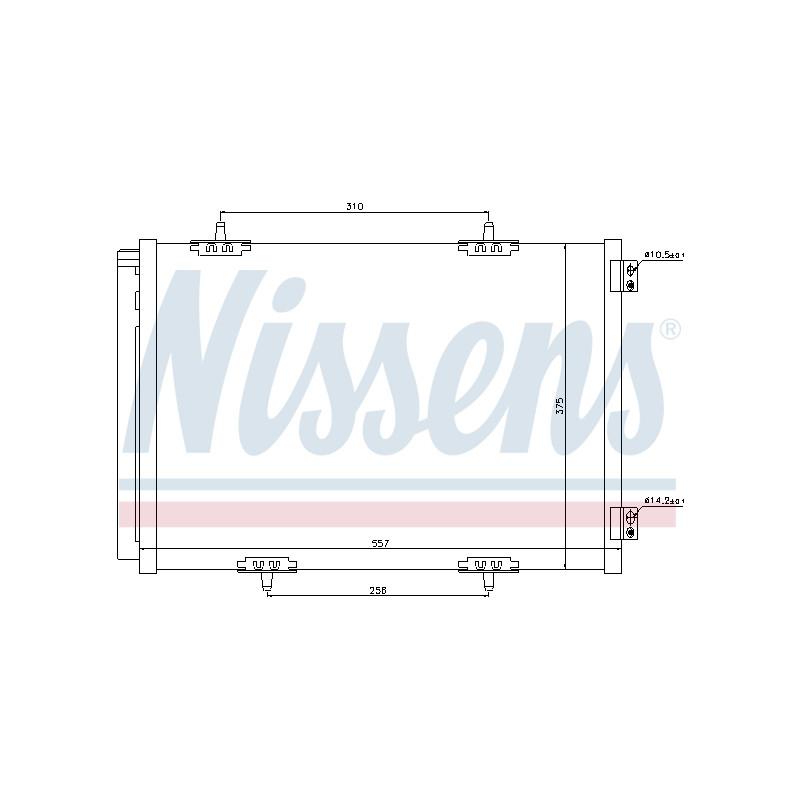 Condenseur, climatisation NISSENS [940055]