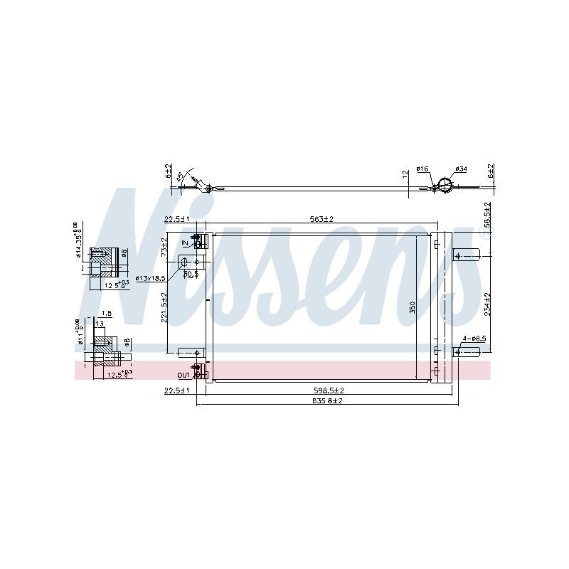 Condenseur, climatisation NISSENS [940458]