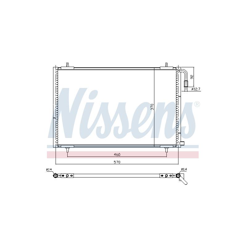 Condenseur, climatisation NISSENS [94392]