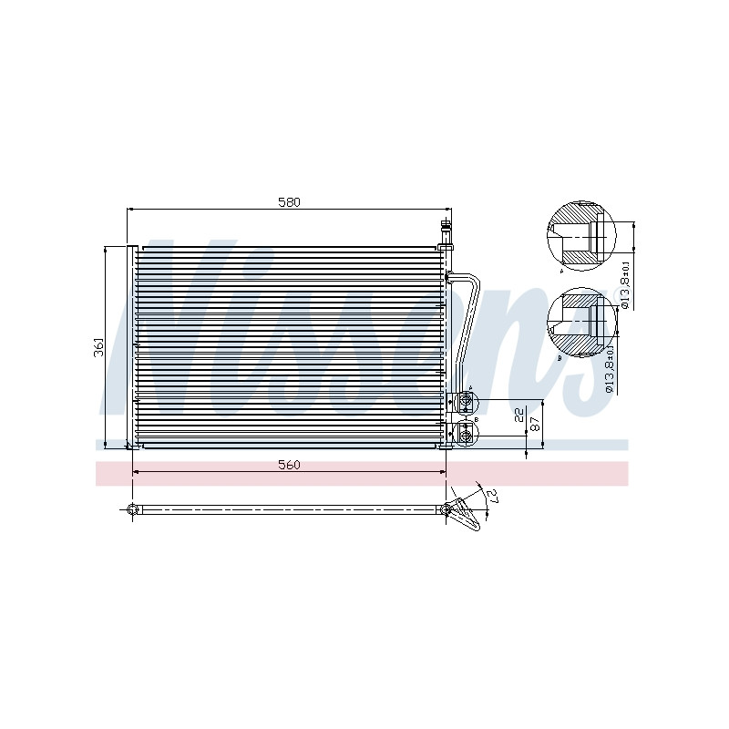 Condenseur, climatisation NISSENS [94587]
