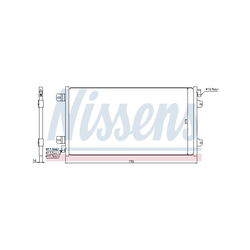 Condenseur, climatisation NISSENS [94659]