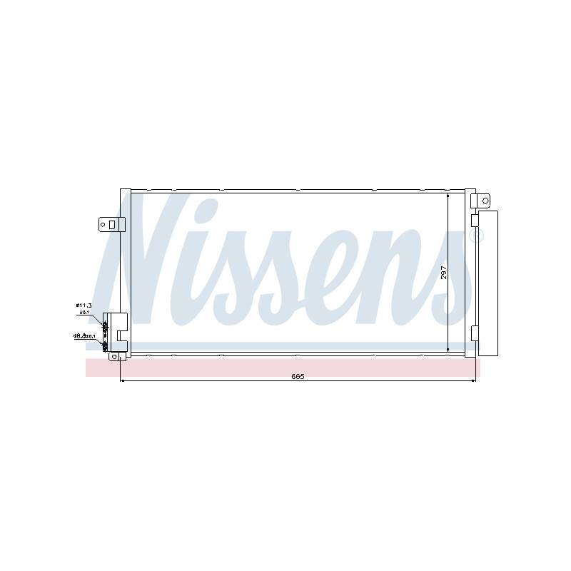 Condenseur, climatisation NISSENS [94899]